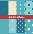 blue dotted patterns vector image vector image