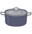 Blue steel pot vector image