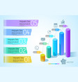 business chart infographic concept vector image vector image