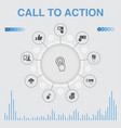 call to action infographic with icons contains