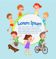 cartoon kids poster fun children vector image vector image