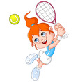 cartoon tennis player vector image vector image