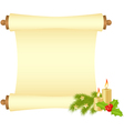 christmas manuscript vector image vector image
