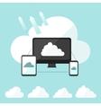 Cloud storage infographic vector image