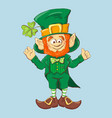 collection leprechaun for saint patricks design vector image vector image