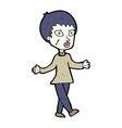 comic cartoon halloween zombie woman vector image vector image