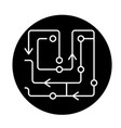 computer algorithms black icon sign on vector image