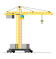 construction tower crane isolated on white vector image vector image