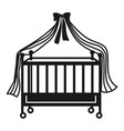 cot icon simple style vector image vector image