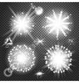 Creative concept set of glow light effect vector image vector image