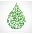 creative water drop design vector image vector image