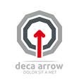 deca arrow design element symbol icon vector image vector image