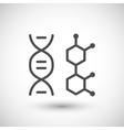 DNA molecule icon vector image vector image
