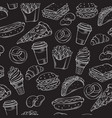 fast food seamless pattern with vector image
