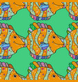 fishes on green yellow and neutral seamless vector image