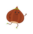 fitness nut isolated vector image
