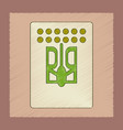 flat shading style icon emblem ukraine vector image vector image