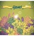 Floral background with blooming flowers vector image