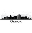 genoa italy city skyline with black buildings vector image vector image