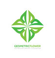 geometric flower - logo template concept vector image