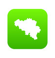 germany map icon green vector image vector image
