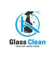 glass cleaner spray logo vector image vector image