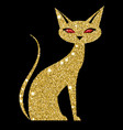 golden cat with ruby eyes vector image vector image