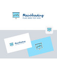 graph chart logotype with business card template vector image vector image