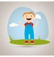 happy kids design vector image vector image