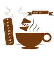 hot drinks coffee and tea vector image