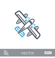 hydroplane outline icon summer vacation vector image vector image