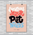 lettering about pet vector image