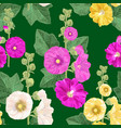 malva flower seamless pattern floral background vector image vector image