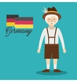 man germany culture avatar vector image vector image