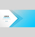 minimal blue banner with text space vector image vector image