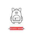 minimal editable stroke backpack icon