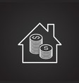 money home saving thin line on black background vector image