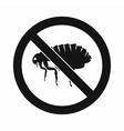 No flea sign icon simple style vector image vector image