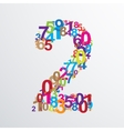 number two from numbers vector image