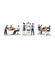 office workplace people business men and women set vector image vector image