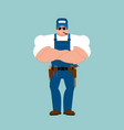 Plumber strong fitter serious powerful service