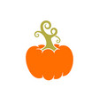 pumpkin logo vector image vector image