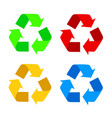 recycle symbol isolated on white background vector image vector image