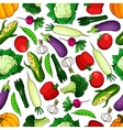 Ripe and healthy farm vegetables seamless pattern vector image vector image