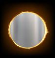 round blank metal plate textured steel background vector image