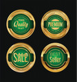 sale luxury golden labels collection 5 vector image vector image