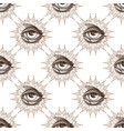 seamless pattern from outline drawings of magical vector image vector image
