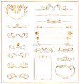 set calligraphic gold vector image vector image