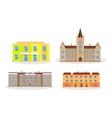 Set of Buildings Kindergarten School College vector image vector image