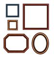 set vintage brown picture frames vector image